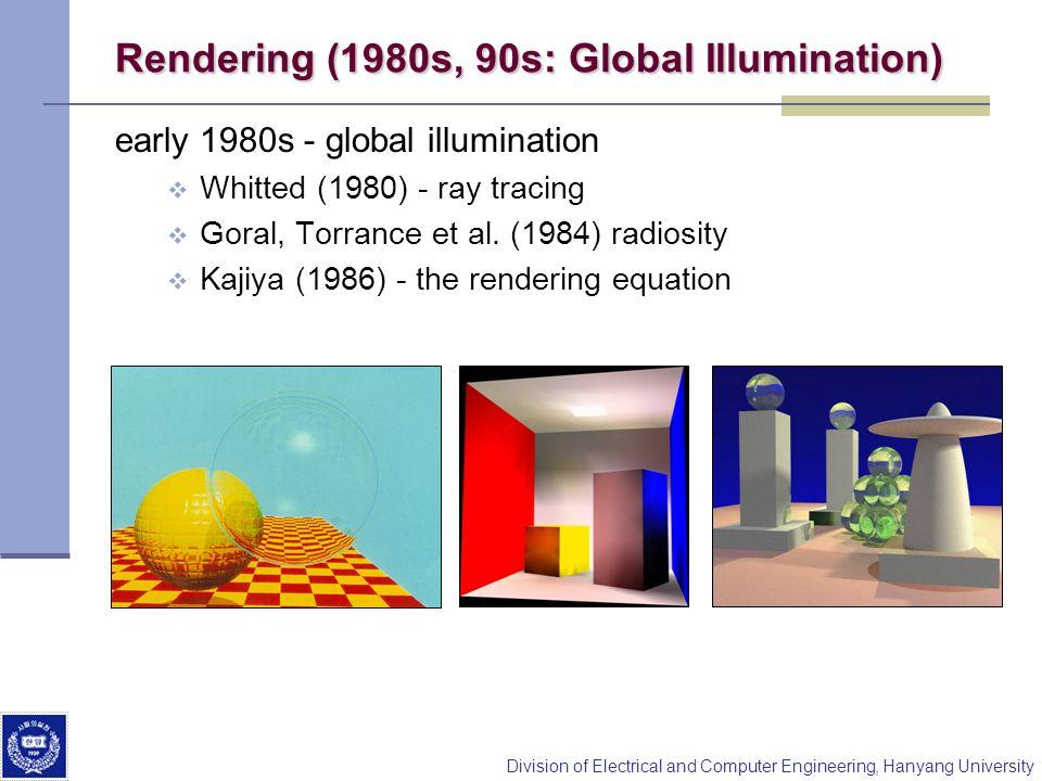 Rendering (1980s, 90s: Global Illumination)