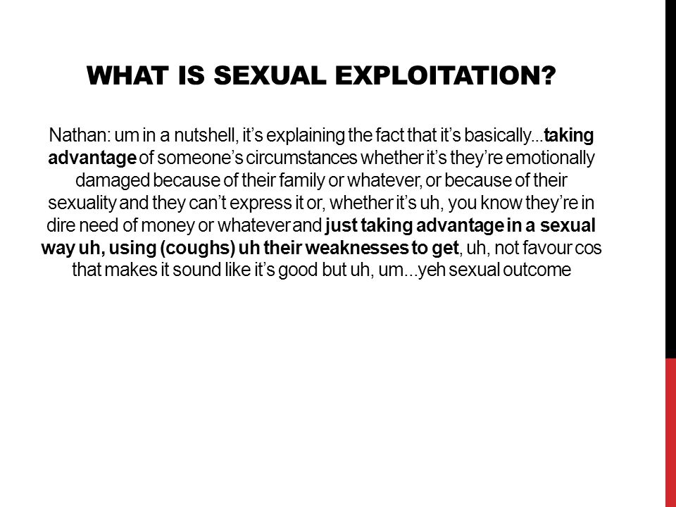 What is sexual exploitation