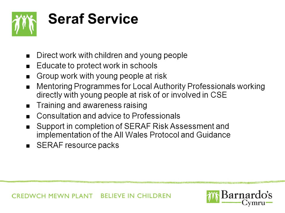 Seraf Service Direct work with children and young people