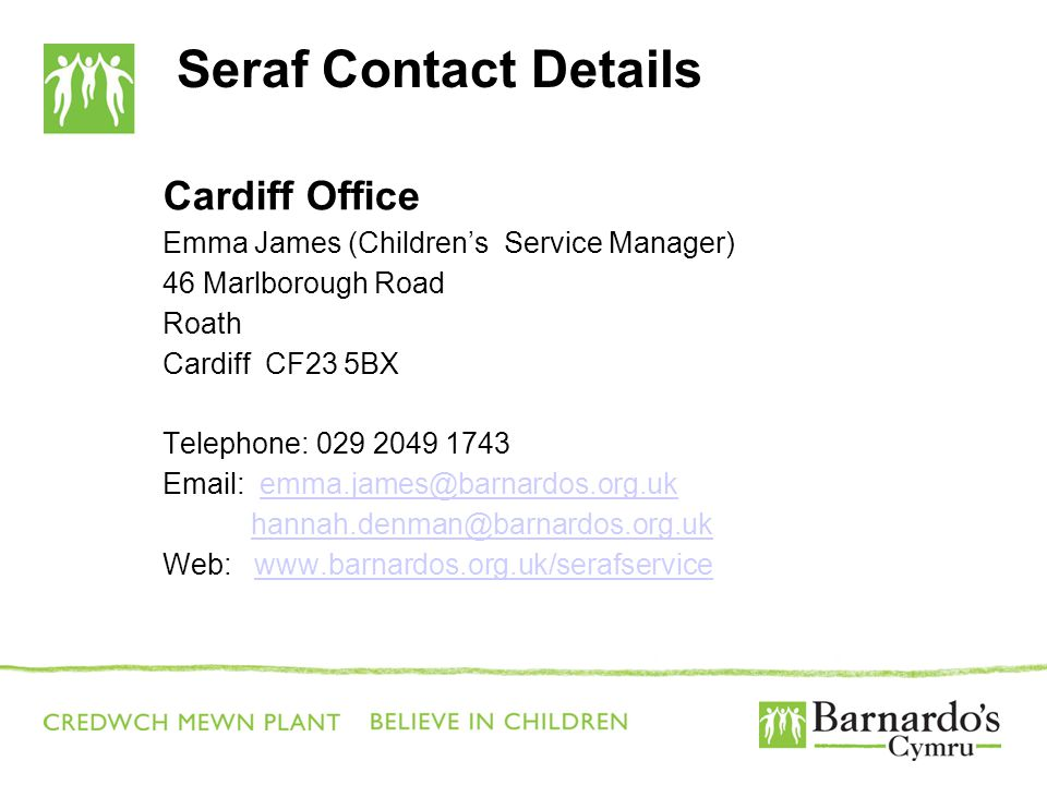 Seraf Contact Details Cardiff Office