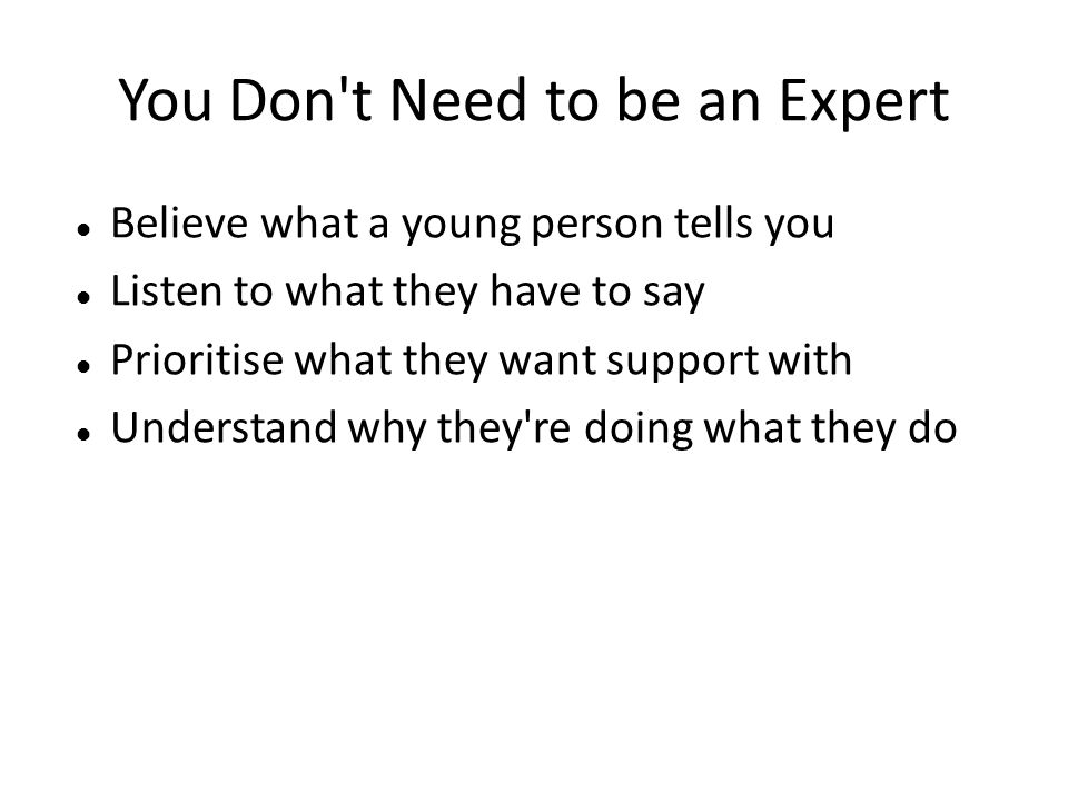 You Don t Need to be an Expert