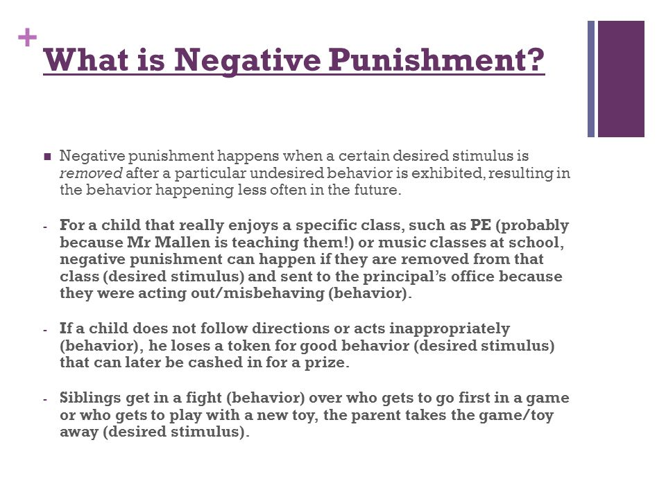 What is Negative Punishment