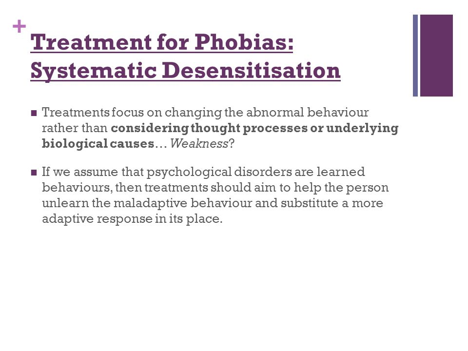 Treatment for Phobias: Systematic Desensitisation