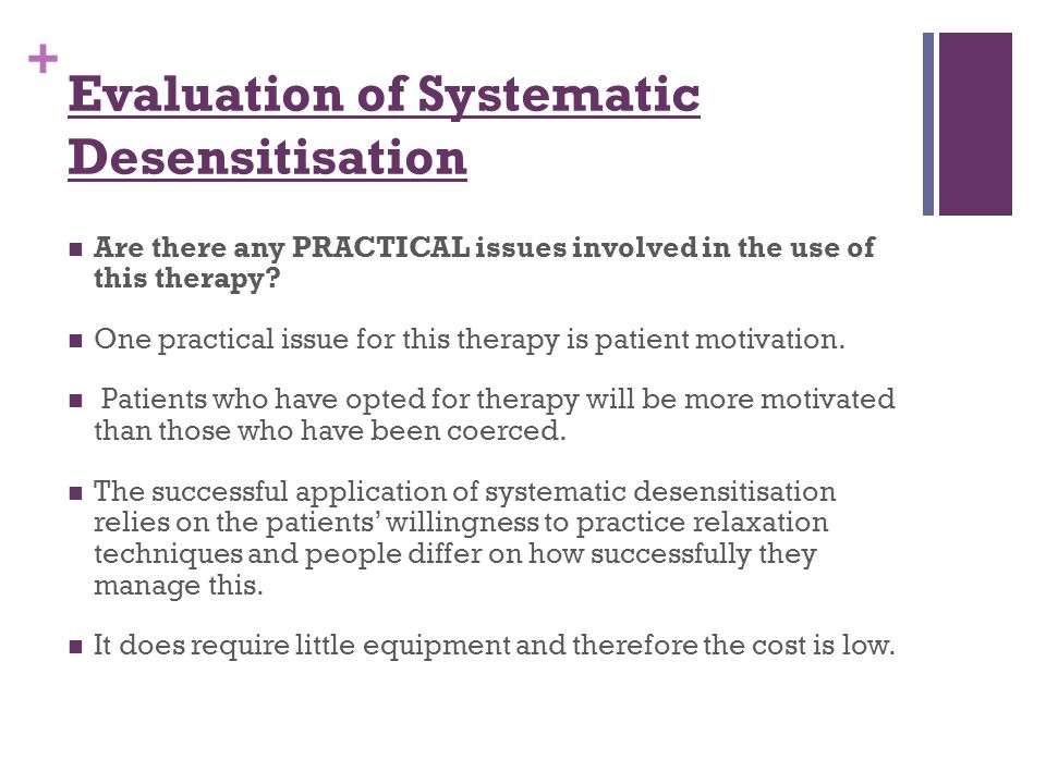 Evaluation of Systematic Desensitisation