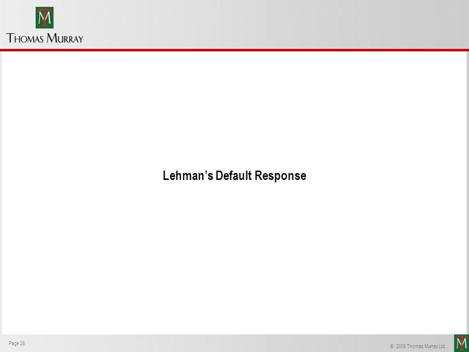 Lehman's Default Response