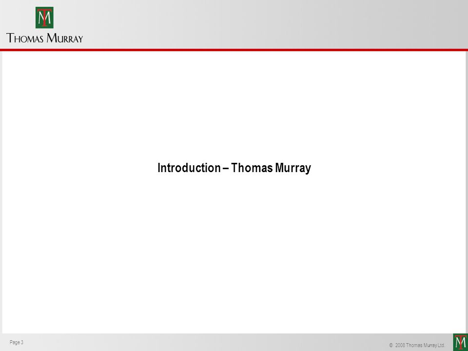 Introduction – Thomas Murray