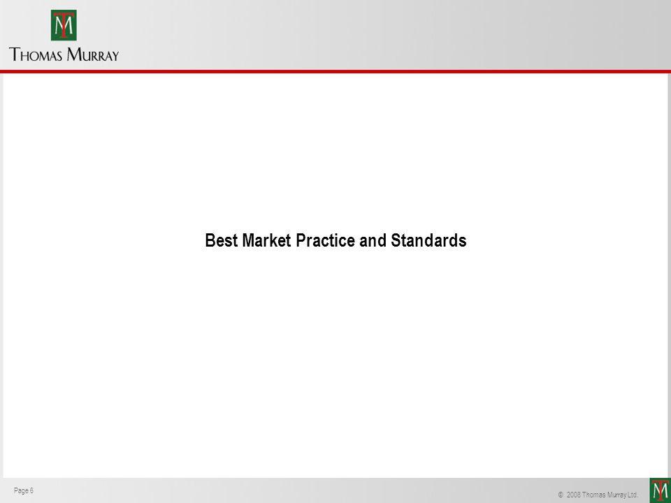 Best Market Practice and Standards