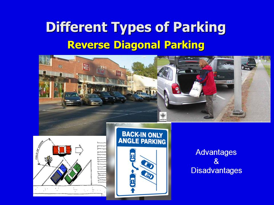 Different Types of Parking Reverse Diagonal Parking
