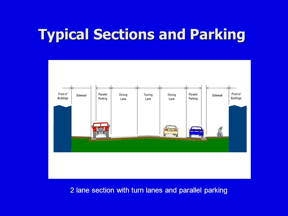 Typical Sections and Parking