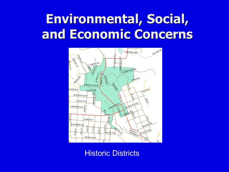 Environmental, Social, and Economic Concerns