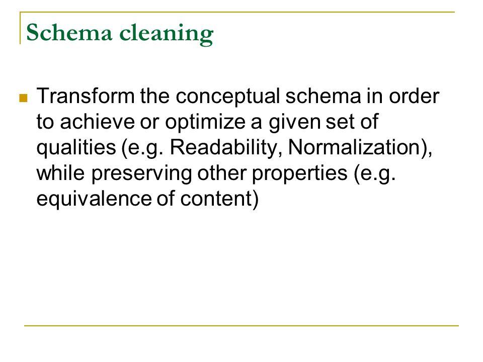 Schema cleaning