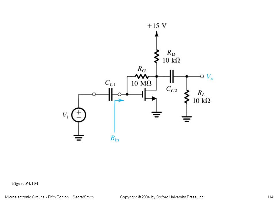 sedr42021_p04104.jpg Figure P4.104 Microelectronic Circuits - Fifth Edition Sedra/Smith