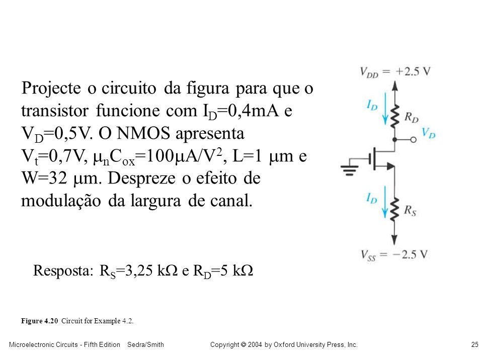 Projecte o circuito da figura para que o