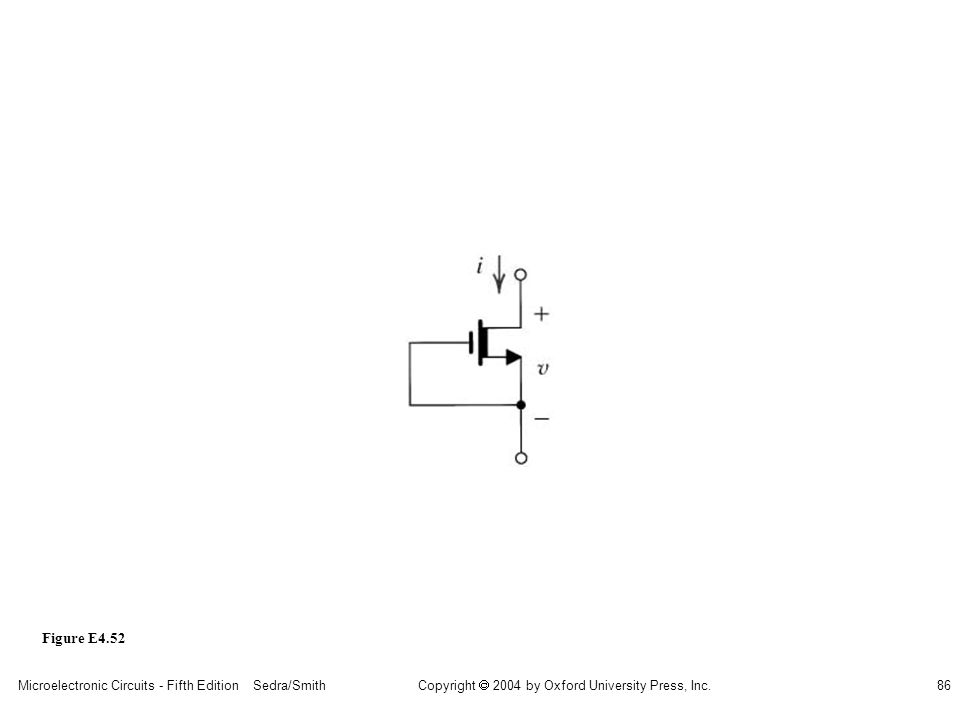 sedr42021_e0452.jpg Figure E4.52 Microelectronic Circuits - Fifth Edition Sedra/Smith