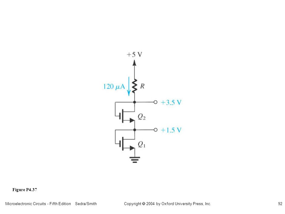 sedr42021_p04037.jpg Figure P4.37 Microelectronic Circuits - Fifth Edition Sedra/Smith