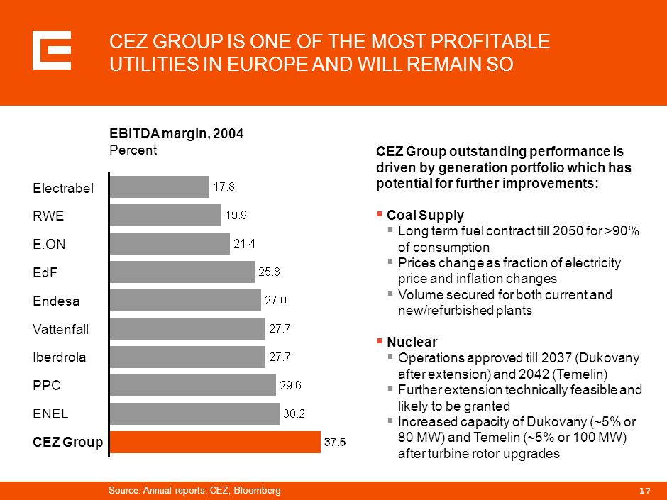 PRG-ZPD008-20041008-11373P1C CEZ GROUP IS ONE OF THE MOST PROFITABLE UTILITIES IN EUROPE AND WILL REMAIN SO.