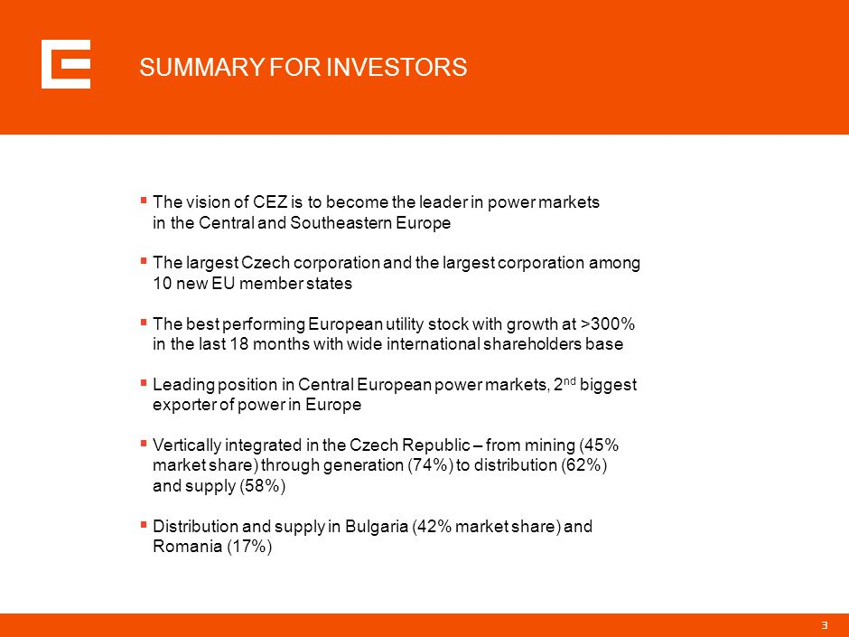 PRG-ZPD008-20041008-11373P1C SUMMARY FOR INVESTORS.