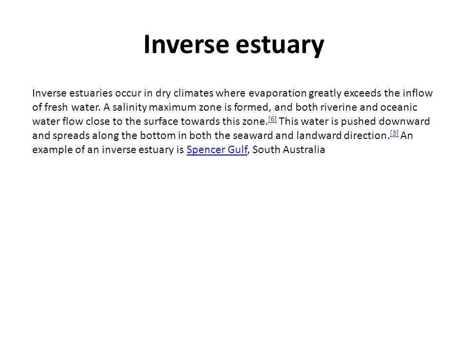 Inverse estuary