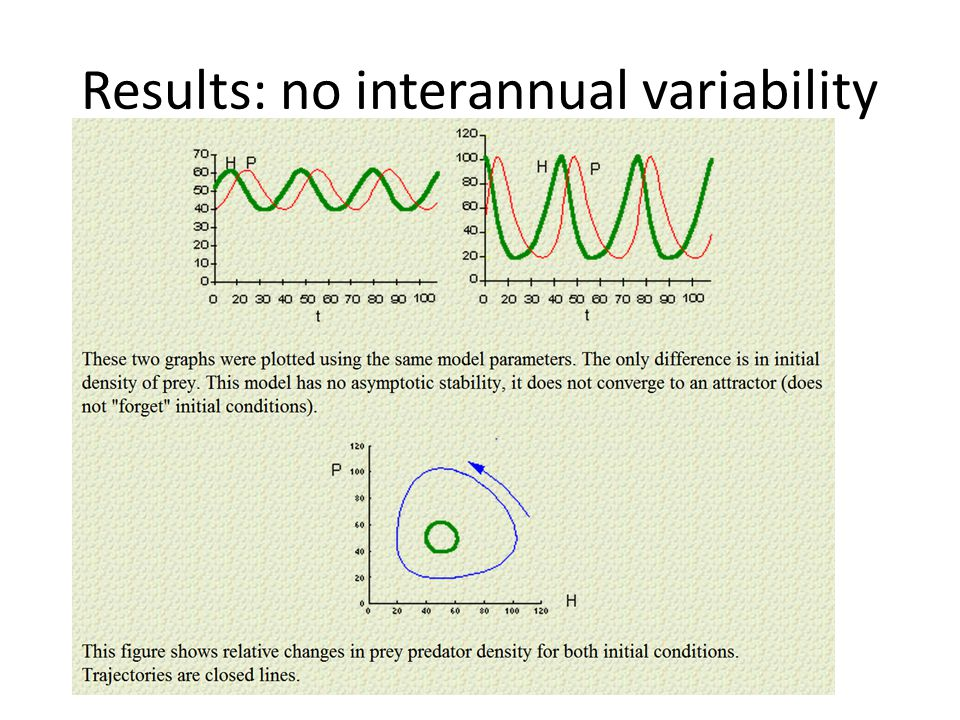 Results: no interannual variability