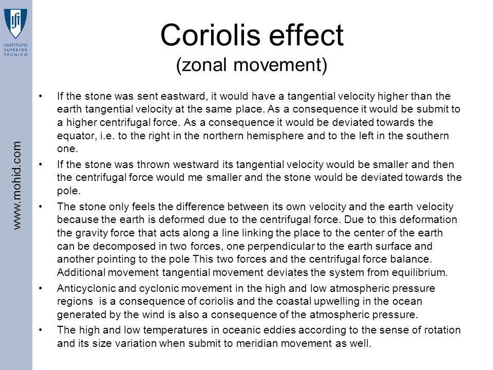 Coriolis effect (zonal movement)