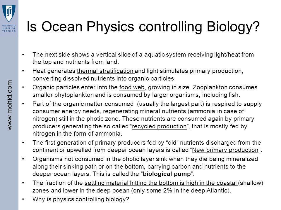 Is Ocean Physics controlling Biology