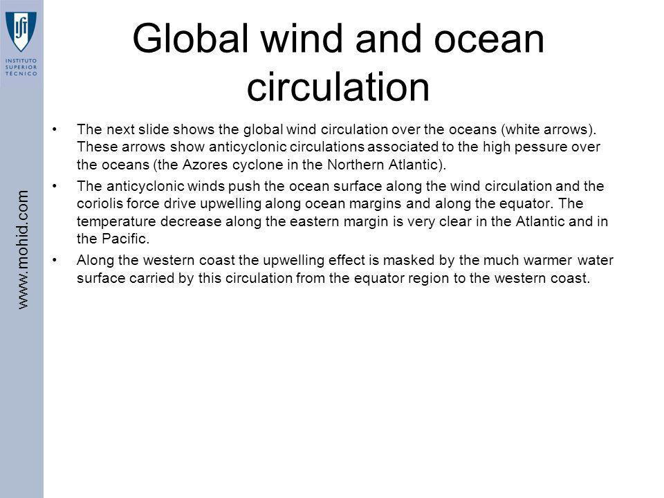 Global wind and ocean circulation