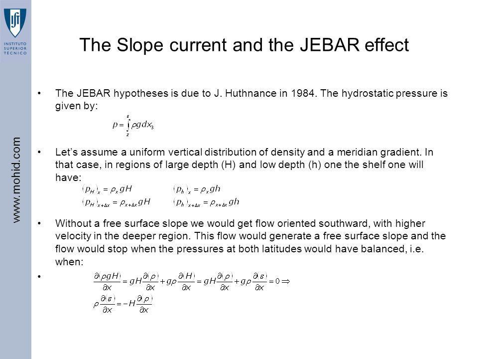 The Slope current and the JEBAR effect
