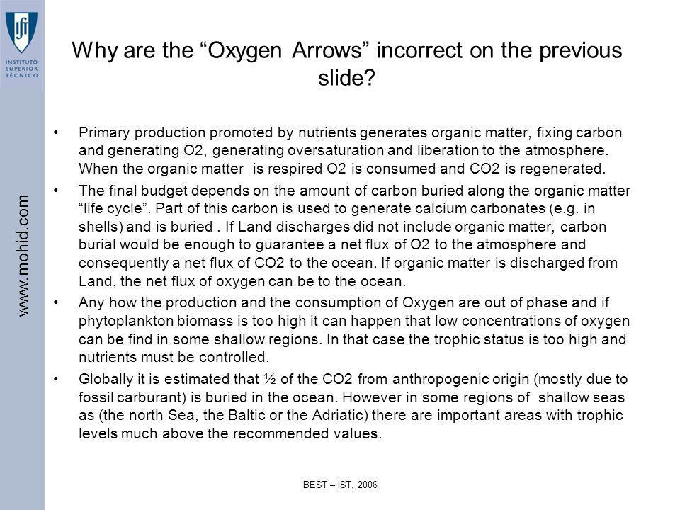 Why are the Oxygen Arrows incorrect on the previous slide