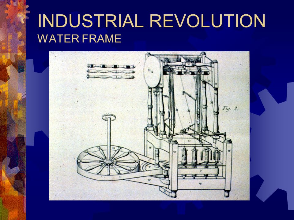 INDUSTRIAL REVOLUTION WATER FRAME