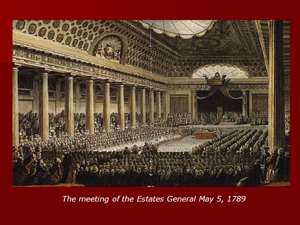 The meeting of the Estates General May 5, 1789