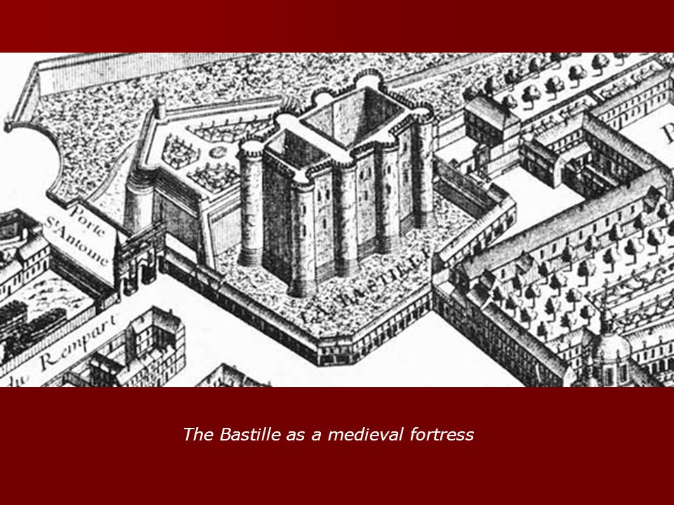 The Bastille as a medieval fortress