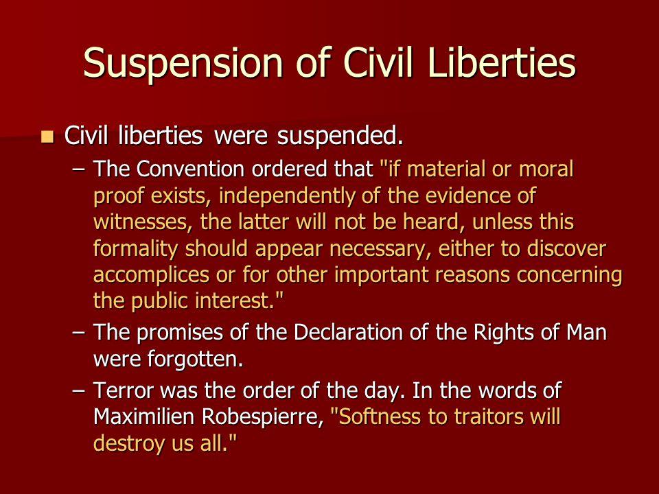 Suspension of Civil Liberties
