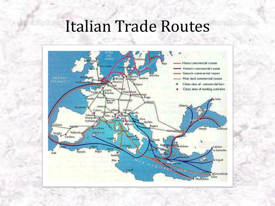 Italian Trade Routes