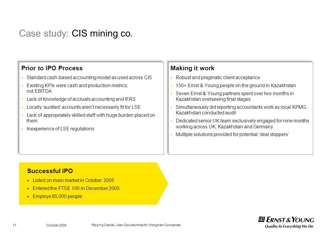 Case study: CIS mining co.