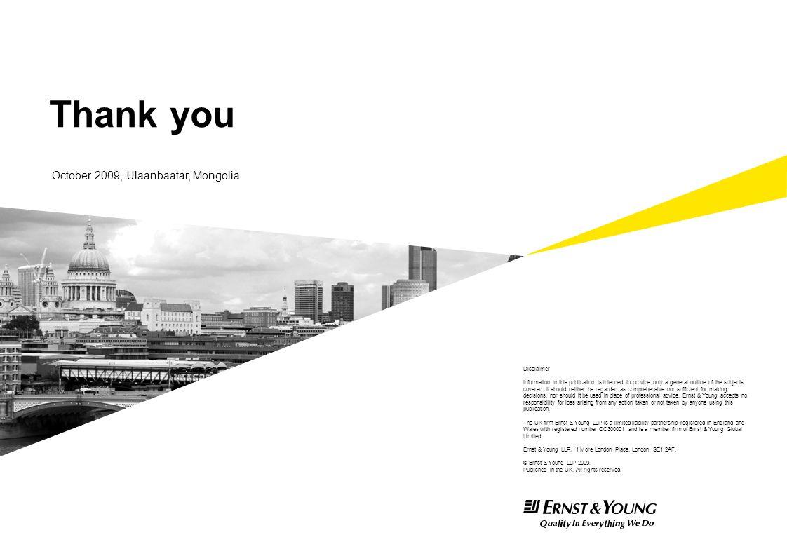 Thank you October 2009, Ulaanbaatar, Mongolia Disclaimer