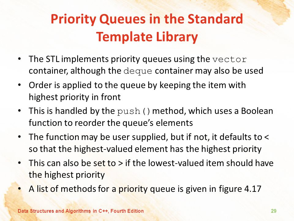 Priority Queues in the Standard Template Library
