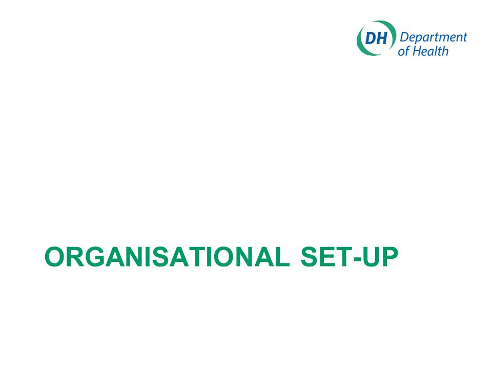 Organisational Set-up
