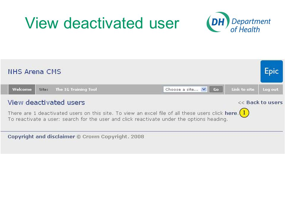 View deactivated user