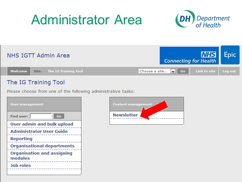 Administrator Area Here you can create a newsletter or reminder message to be sent via email to your users. You can also attach local.
