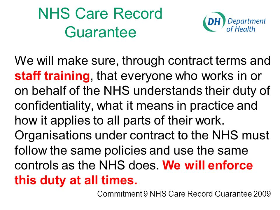 NHS Care Record Guarantee
