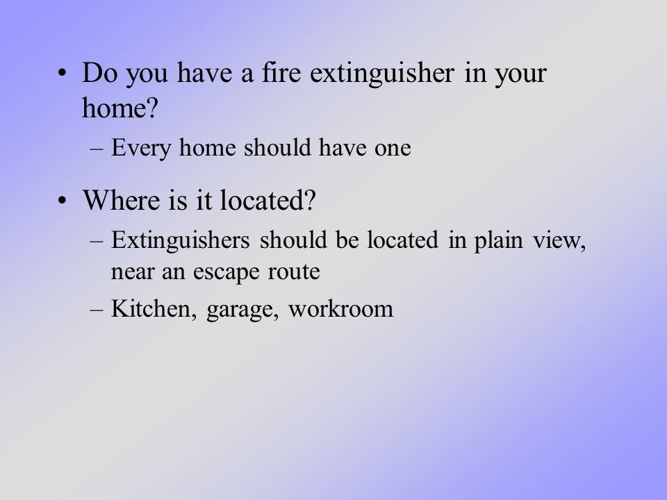 Fire extinguishers have chemicals in them that suppress the fire