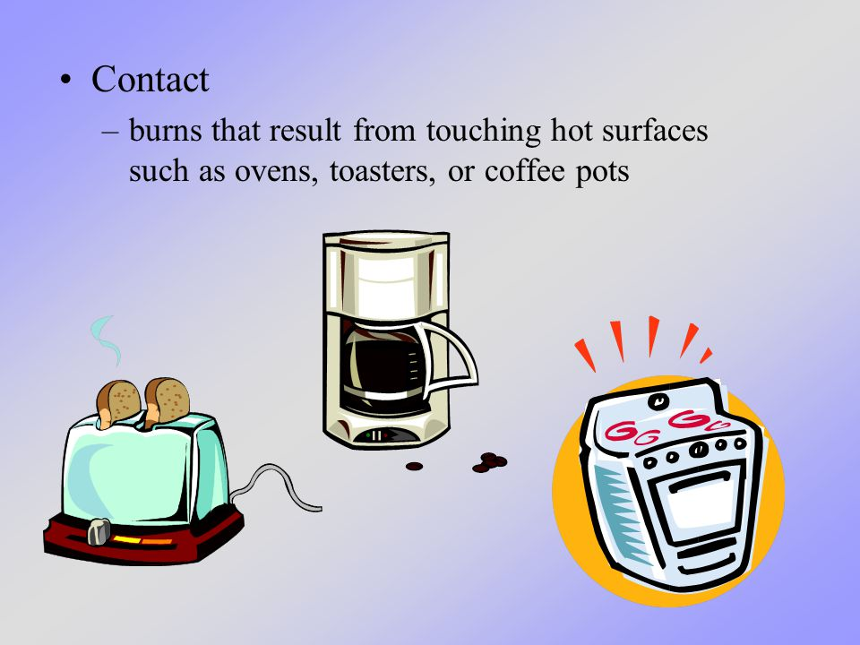 Food and liquids from microwaves can also cause scald and contact burns