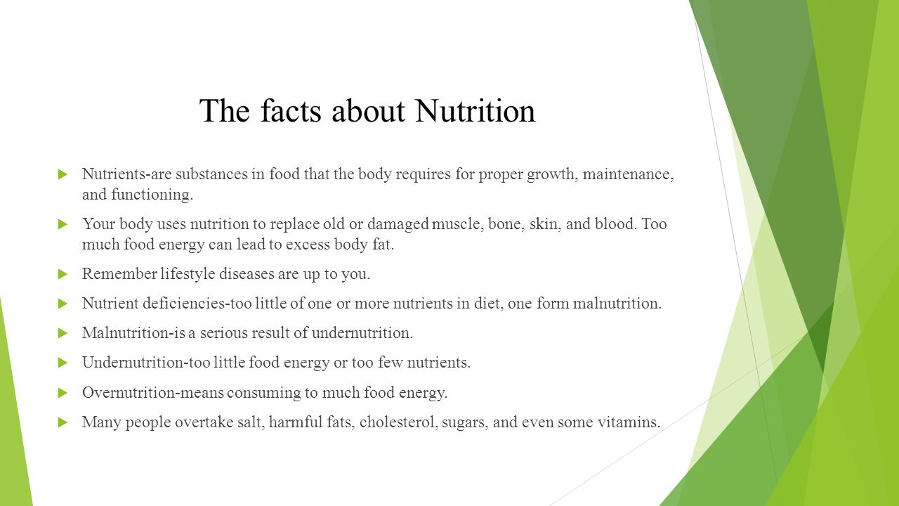 The facts about Nutrition