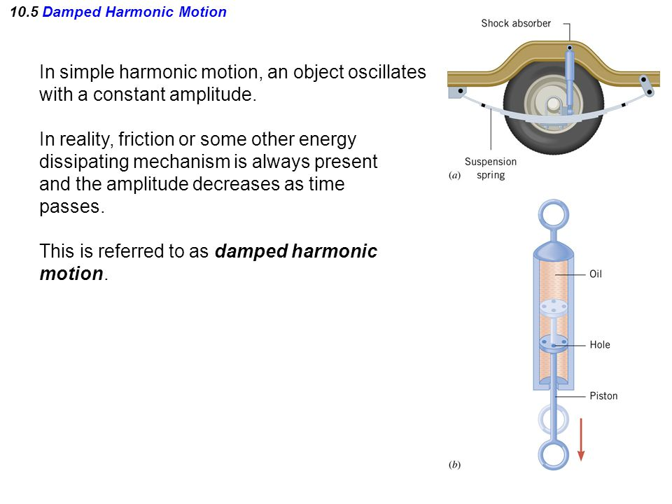 10.5 Damped Harmonic Motion