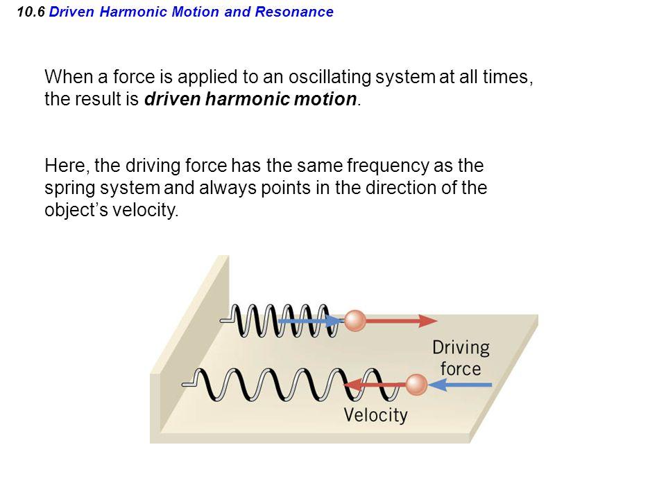 10.6 Driven Harmonic Motion and Resonance