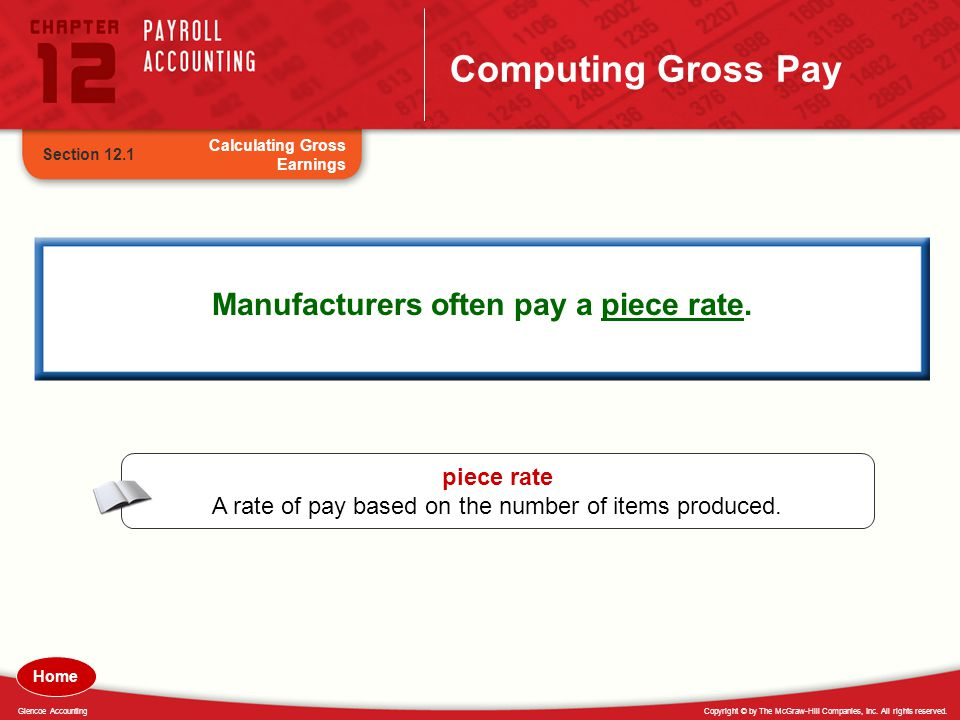 Manufacturers often pay a piece rate.