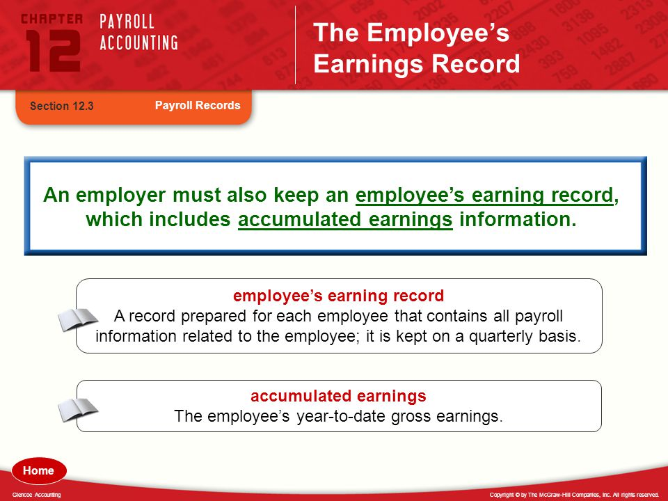 The Employee's Earnings Record