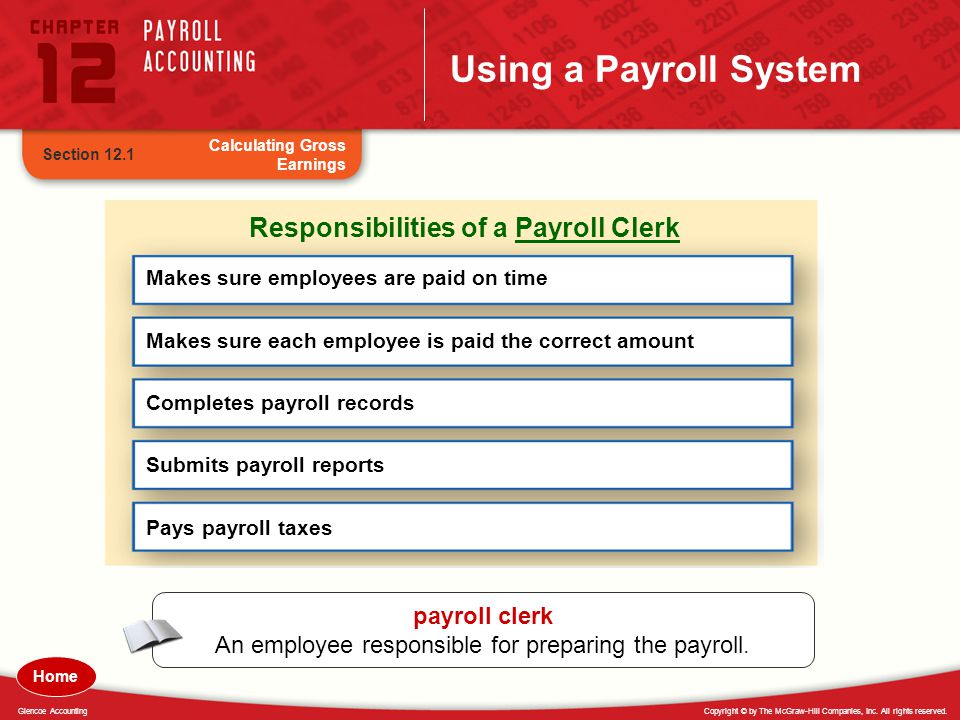 Responsibilities of a Payroll Clerk