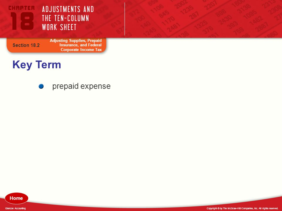 Key Term prepaid expense Section 18.2 Home