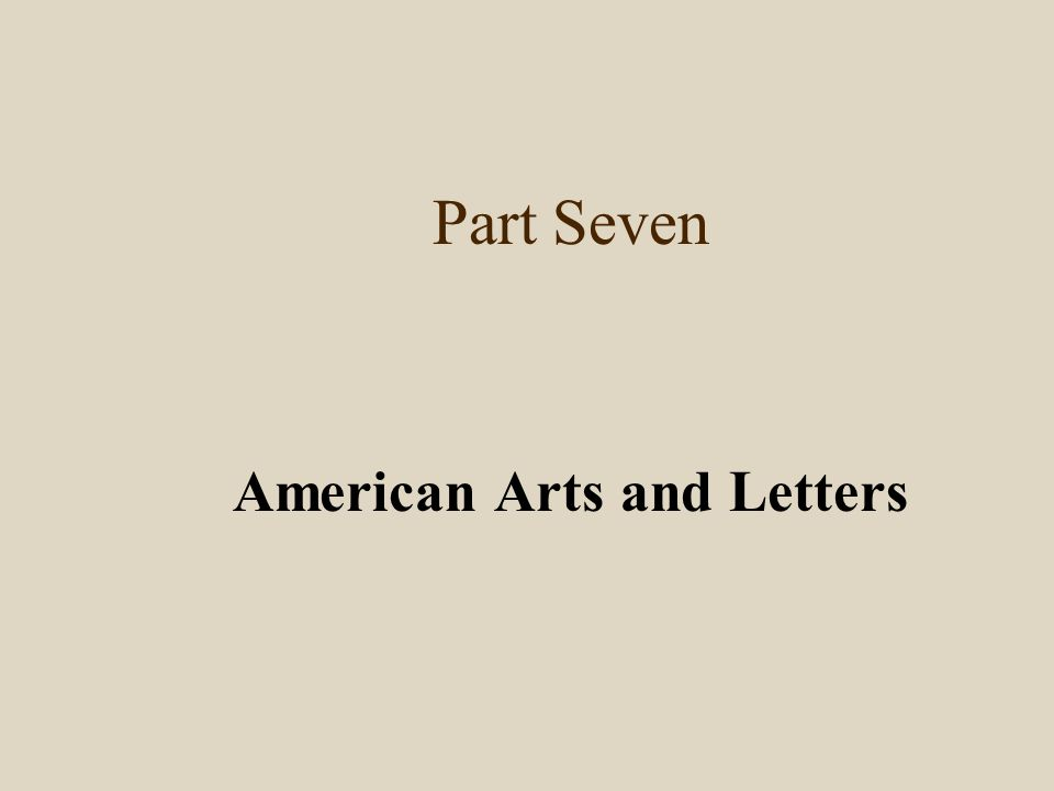 American Arts and Letters